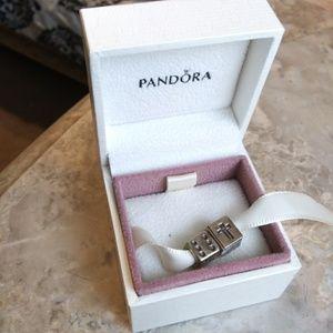 Pandora Bible & Dice Charm Bundle with box